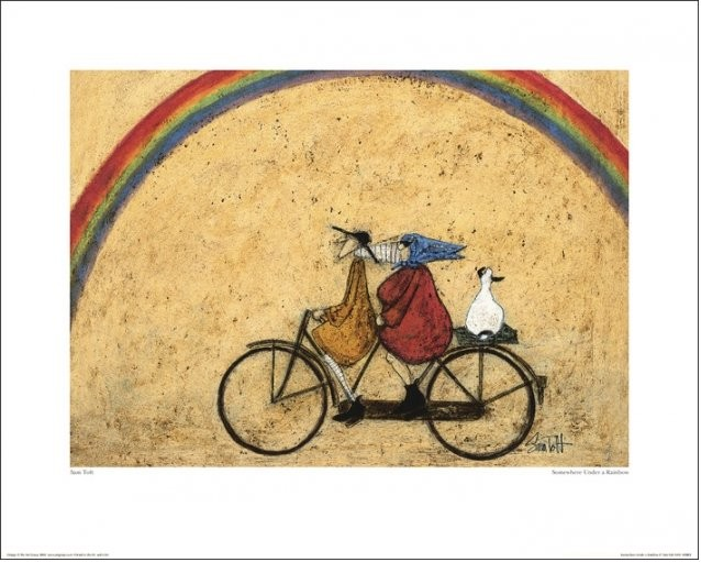 Sam Toft - Somewhere Under a Rainbow Art Print