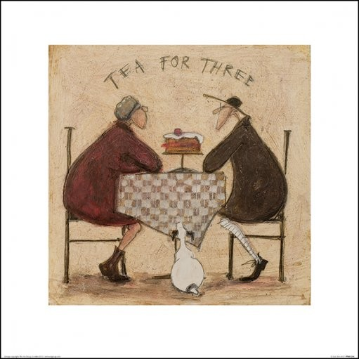 Sam Toft - Tea for Three 2 Art Print
