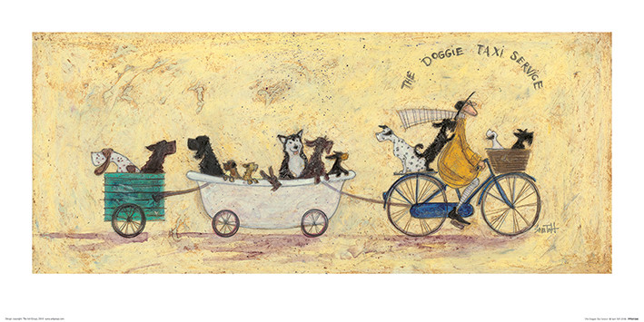 Sam Toft - The Doggie Taxi Service Art Print