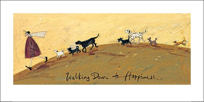 Sam Toft - Walking Down To Happiness Art Print