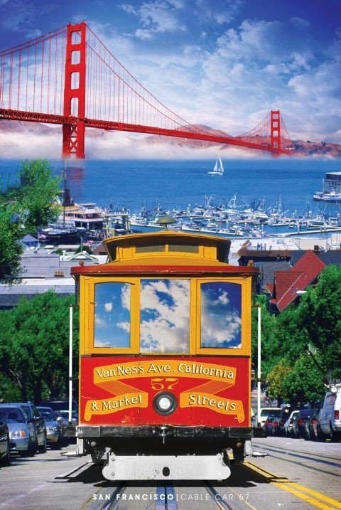 Cable Automotive Oklahoma City : San francisco tram poster sold at ukposters