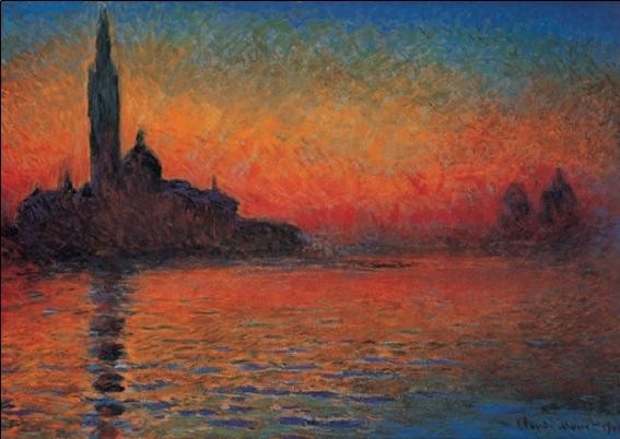 San Giorgio Maggiore at Dusk - Dusk in Venice (Sunset in Venice, Venice Twilight) Art Print