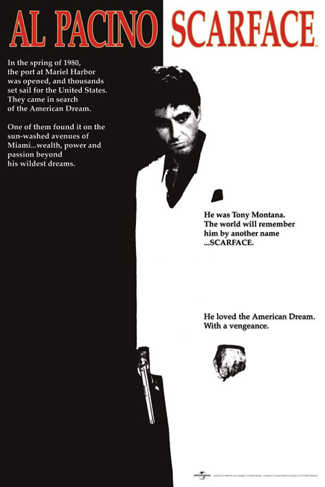 Scarface - movie Poster | Sold at Europosters