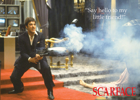 Scarface say hello to my little friend framed poster - Scarface images ...