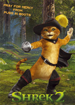 SHREK 2 - cat Poster, Art Print