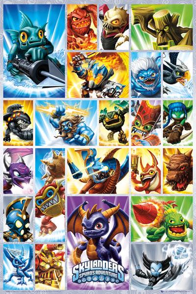 Skylanders Spyro - grid  Poster