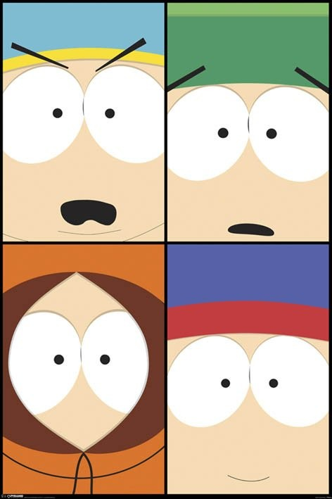 SOUTH PARK - close up Poster, Art Print
