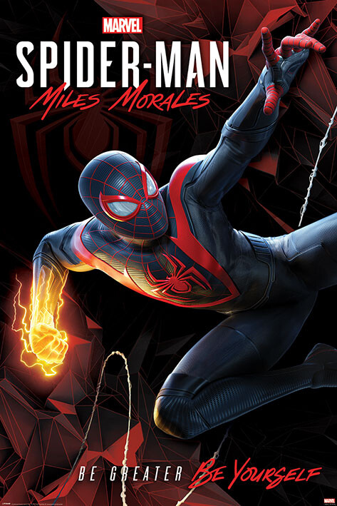Poster Spider-Man Miles Morales - Cybernetic Swing