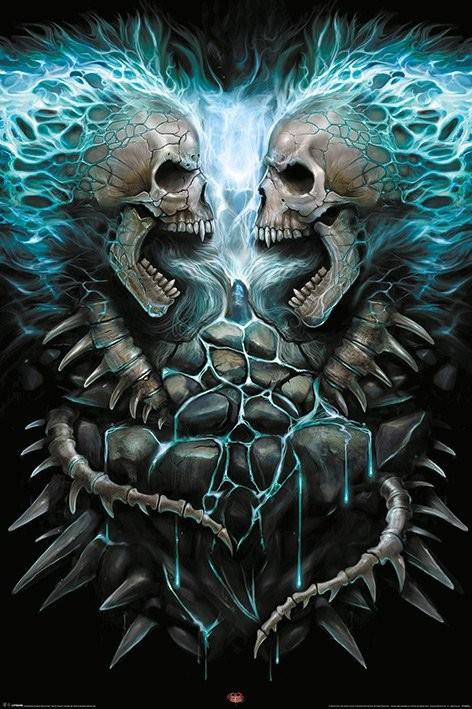 Poster Spiral - Flaming Spine
