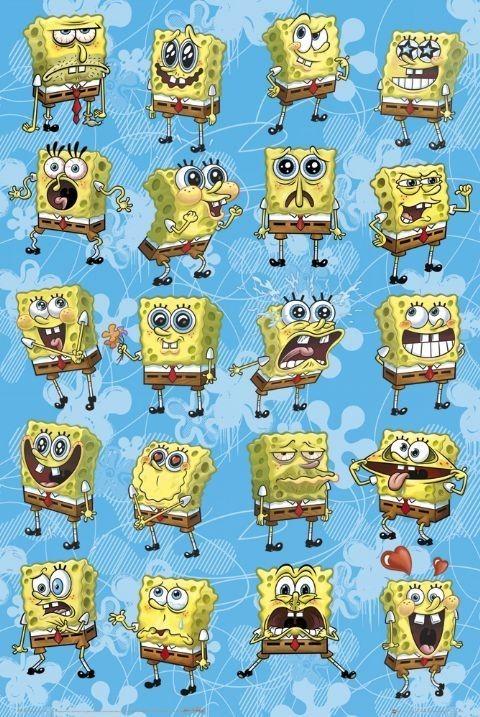 Pôster SPONGEBOB - expressions