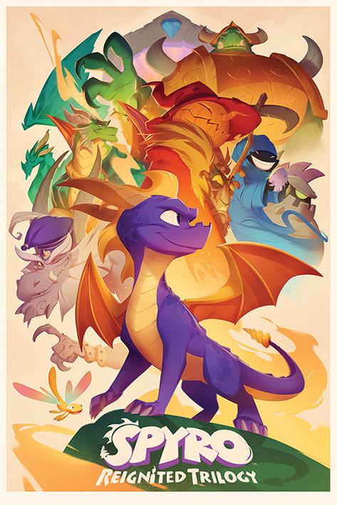 Spyro - Animated Style Poster
