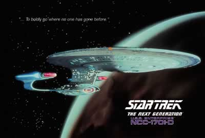 Poster  STAR TREK - USS Enterprise