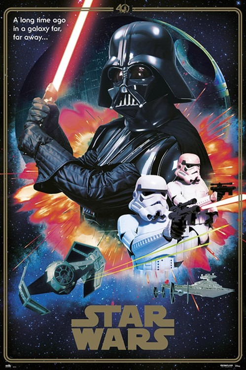 Star Wars - 40th Anniversary Villains Poster