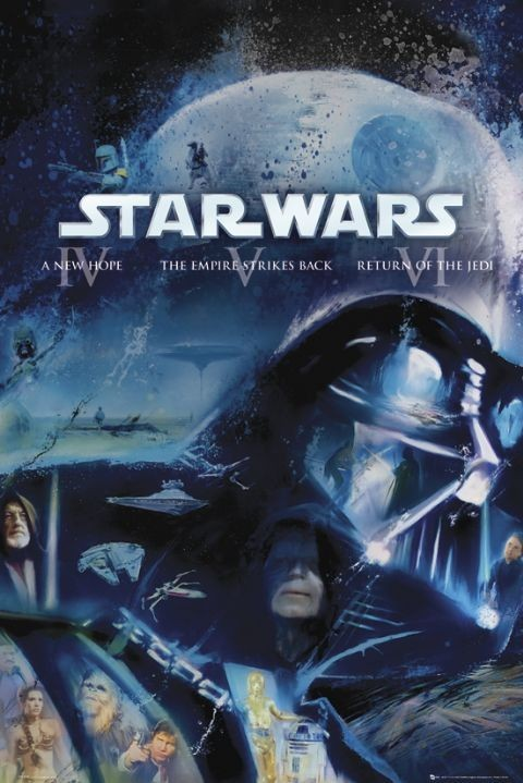 Pôster STAR WARS - blue ray classic