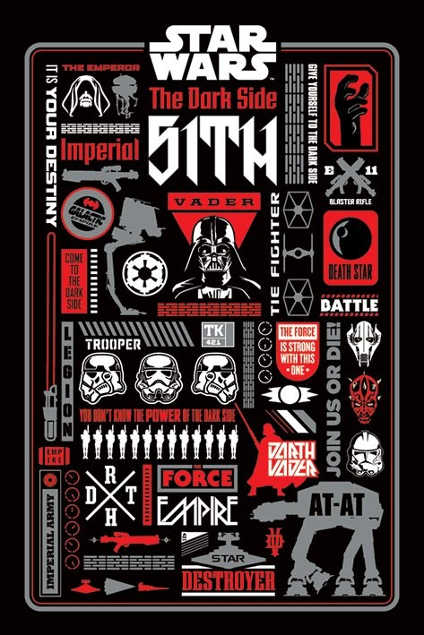 star wars dark side icongraphic poster sold at abposters com