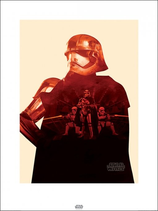 Star Wars Episode VII: The Force Awakens - Captain Phasma Tri Art Print