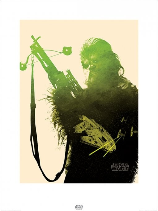 Star Wars Episode VII: The Force Awakens - Chewbacca Tri Art Print