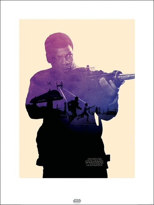 Star Wars Episode VII: The Force Awakens - Finn Tri Art Print