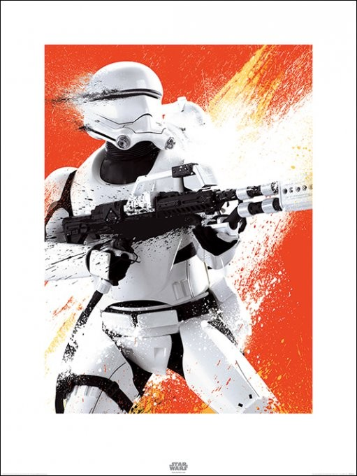 Star Wars Episode VII: The Force Awakens - Flametrooper Paint Art Print