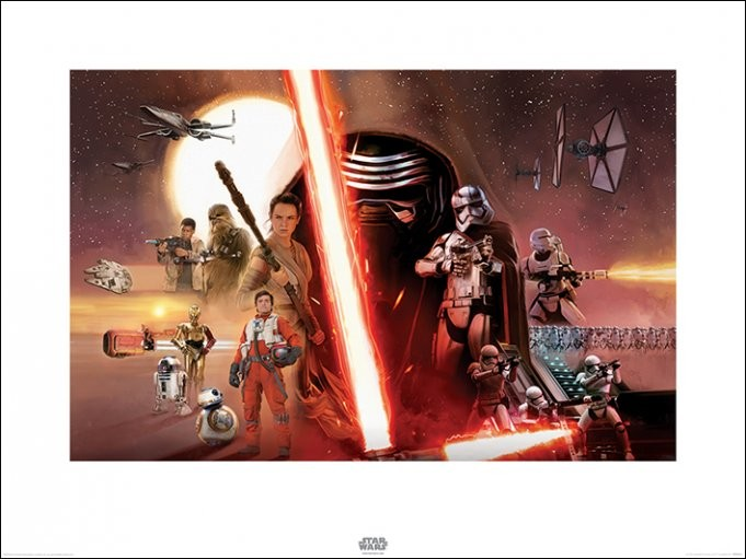 Star Wars Episode VII: The Force Awakens - Galaxy Art Print