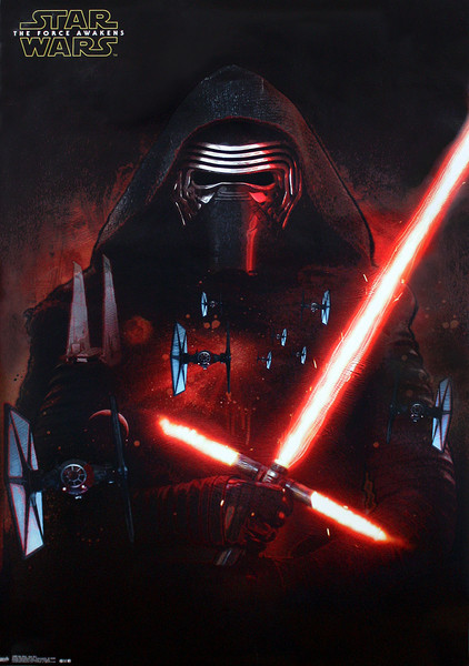 Poster Star Wars Episode VII: The Force Awakens - Kylo Ren and T-Fighter