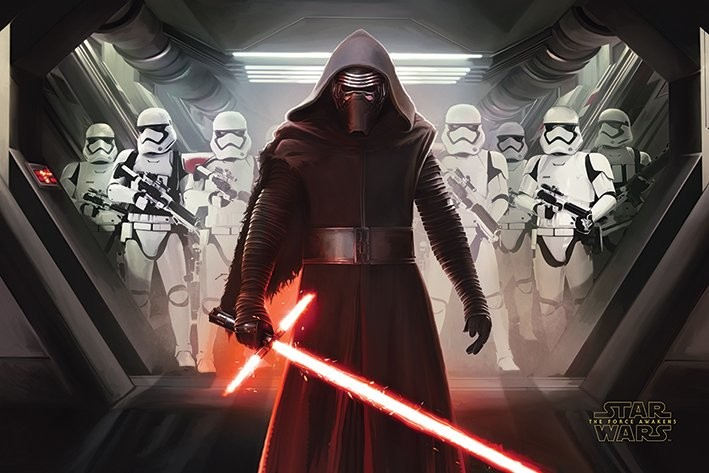 Star Wars Episode VII: The Force Awakens   Kylo Ren U0026 Stormtroopers Poster  ...