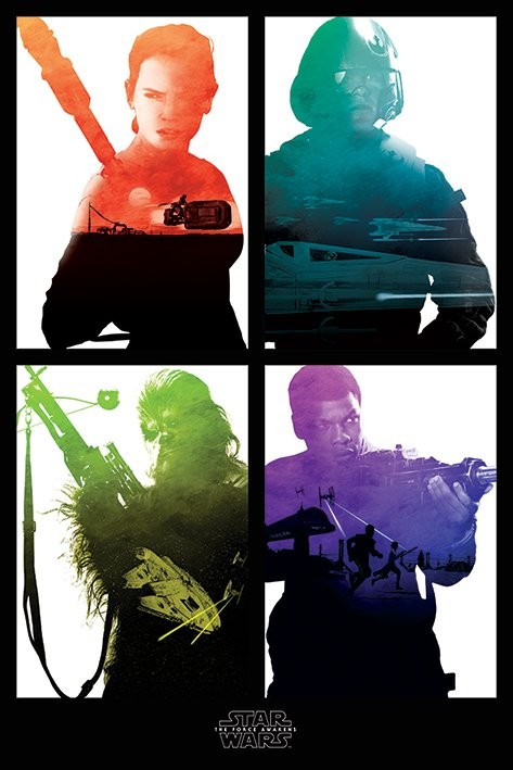 Star Wars Episode VII: The Force Awakens - Rebel Blocks Poster
