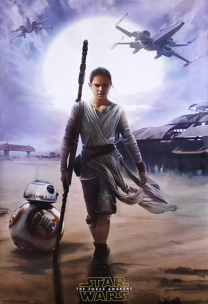 Poster Star Wars Episode VII: The Force Awakens - Rey