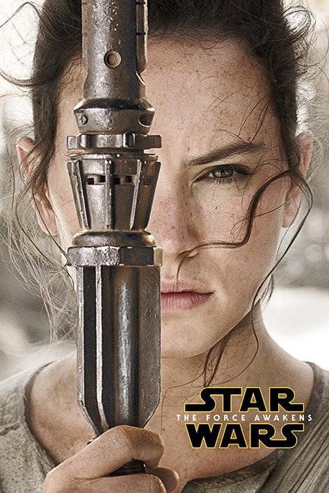 star wars episode vii the force awakens rey teaser poster sold