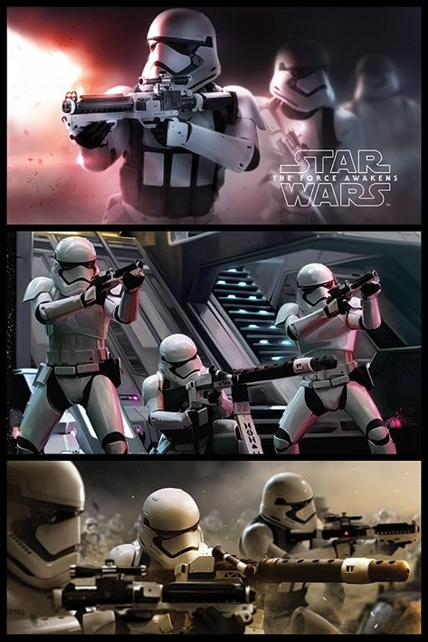 Star Wars Episode VII: The Force Awakens - Stormtrooper Panels Poster, Art Print