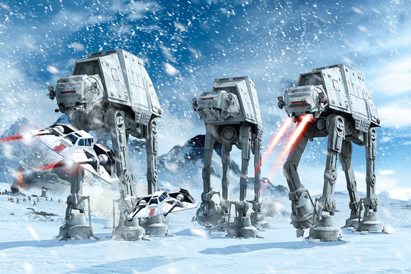 star wars hoth battle poster sold at europosters. Black Bedroom Furniture Sets. Home Design Ideas