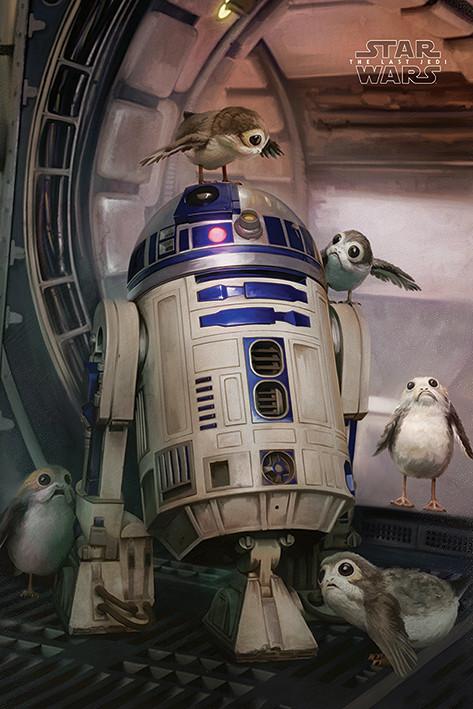 Star Wars The Last Jedi - R2-D2 & Porgs Poster