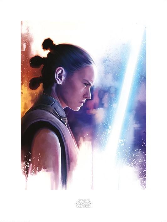 Star Wars The Last Jedi - Rey Lightsaber Paint Art Print