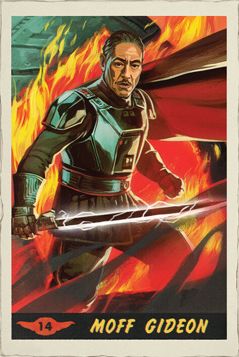 Poster Star Wars: The Mandalorian - Moff Gideon Card