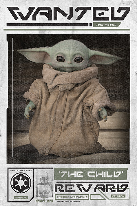 Star Wars: The Mandalorian - Wanted The Child (Baby Yoda) Poster