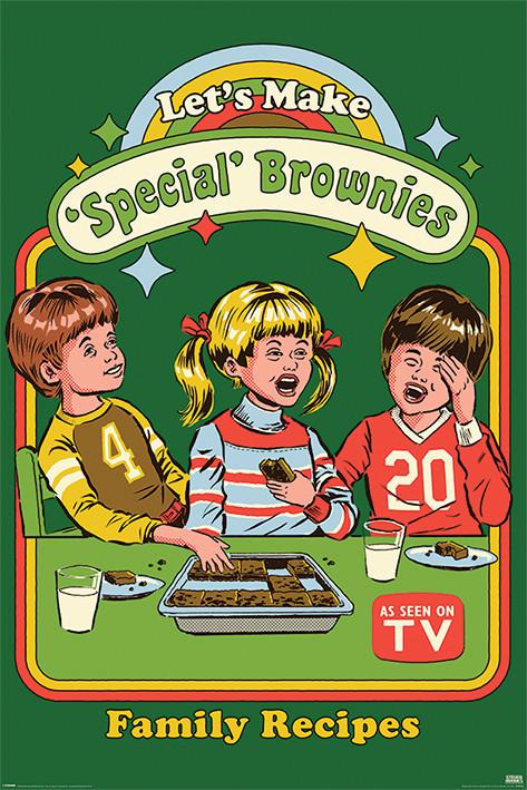 Steven Rhodes - Let's Make Special Brownies Poster