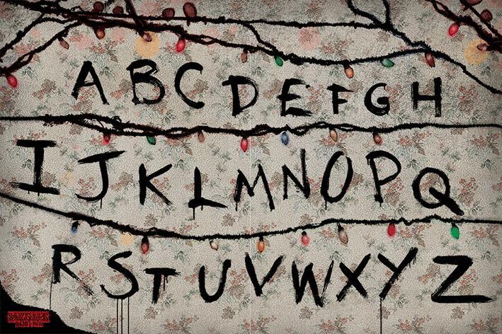 Stranger Things - R, U, N Poster