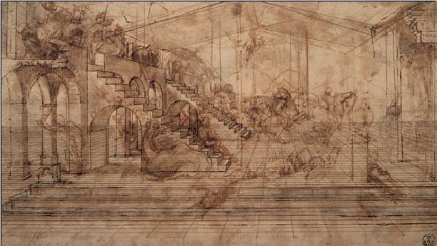 Study of The Adoration of the Magi Art Print