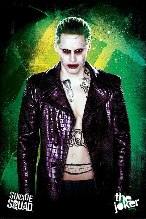 suicide squad the joker poster sold at europosters. Black Bedroom Furniture Sets. Home Design Ideas