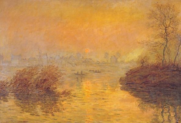 Sunset on the Seine at Lavacourt Art Print