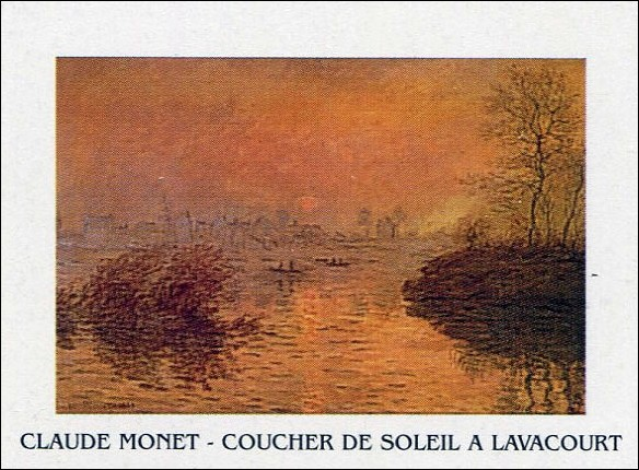 Sunset on the Seine at Lavacourt Art Print