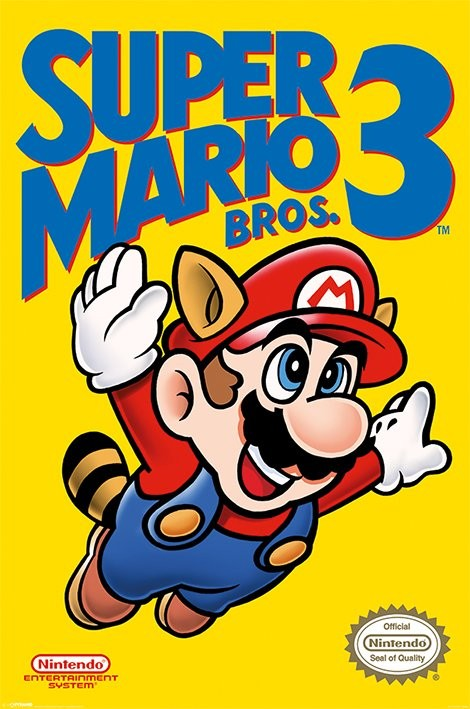 Super Mario Bros. 3 - NES Cover Poster