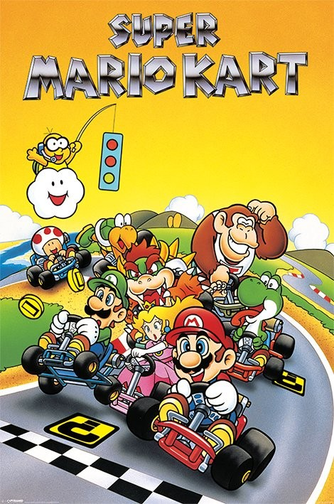 Super Mario Kart Retro Poster Sold At Europosters