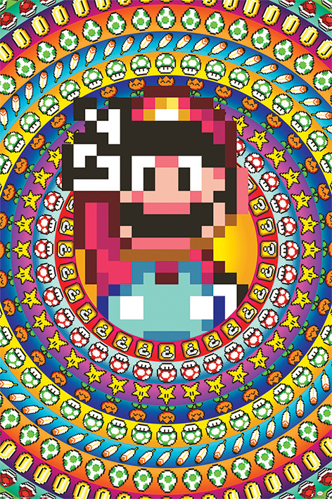 Poster Super Mario - Power Ups