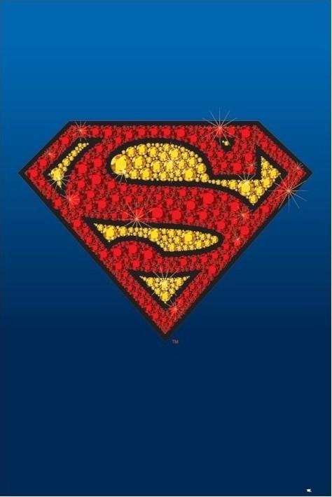 SUPERMAN - bling logo Poster
