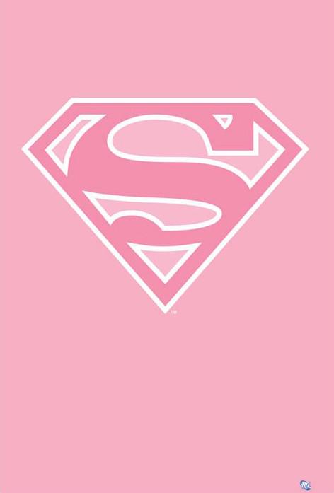 Poster Superman – logo/pink