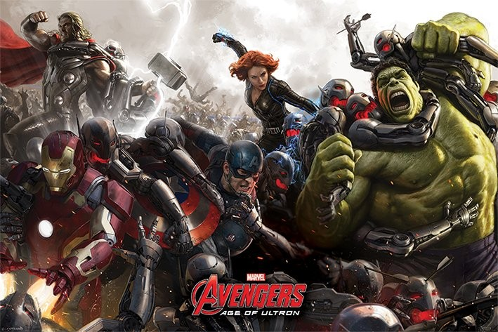 The Avengers: Age Of Ultron - Battle Poster