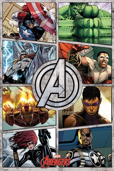 The Avengers - Comic Panels Poster