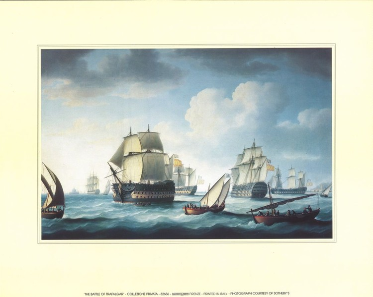 The Battle Of Trafalgar  Art Print