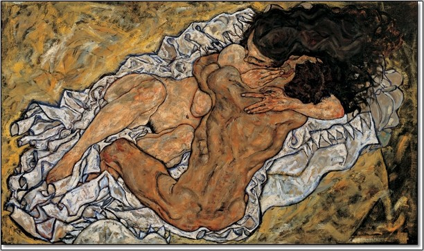 The Embrace (Lovers II), 1917 Art Print